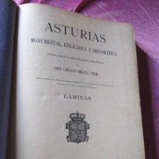 Libros antiguos: EPIGRAFIA ASTURIANA CIRIACO MIGUEL VIGIL LIBRO DE LAMINAS ORIGINAL AÑO 1887 LIBRO DE MUSEO. Lote 110177047