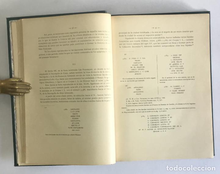 Libros antiguos: LOS NOMBRES È IMPORTANCIA ARQUEOLOGICA DE LAS ISLAS PYTHIUSAS. - ROMAN CALVET, Juan. - Foto 3 - 114799134