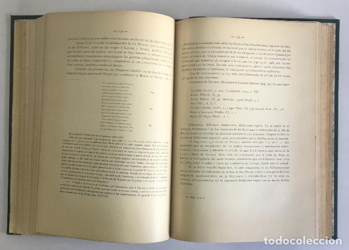 Libros antiguos: LOS NOMBRES È IMPORTANCIA ARQUEOLOGICA DE LAS ISLAS PYTHIUSAS. - ROMAN CALVET, Juan. - Foto 7 - 114799134