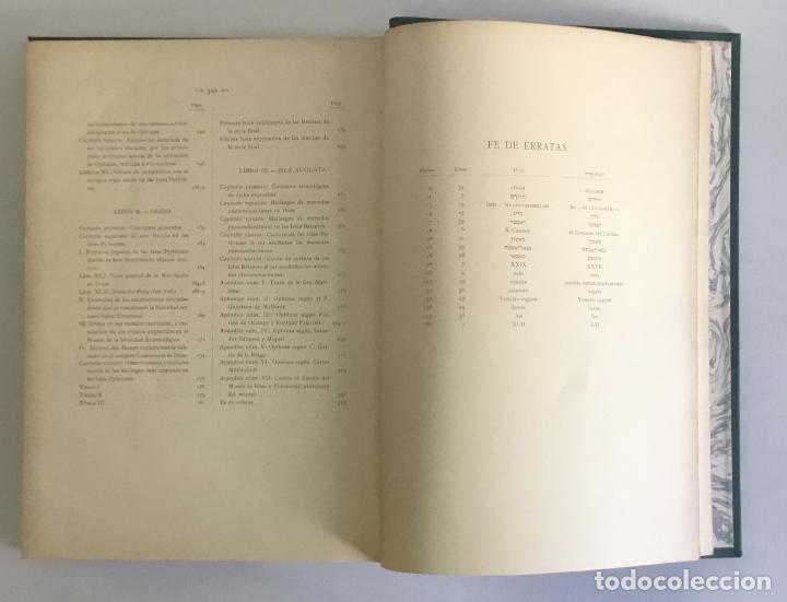 Libros antiguos: LOS NOMBRES È IMPORTANCIA ARQUEOLOGICA DE LAS ISLAS PYTHIUSAS. - ROMAN CALVET, Juan. - Foto 8 - 114799134
