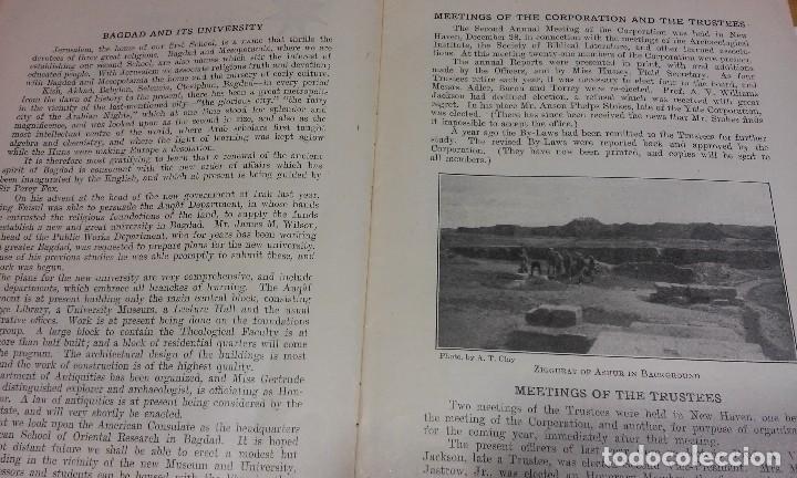 Libros antiguos: Bulletin of the American Schools of Oriental Research. N° 9, 1923. Arqueología Bagdad Jerusalén - Foto 2 - 116641755