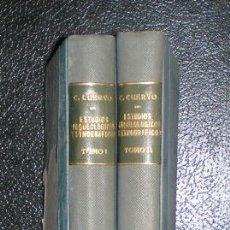 Libros antiguos: CUERVO MARQUEZ, C: ESTUDIOS ARQUEOLOGICOS Y ETNOGRAFICOS. PREHISTORIA Y VIAJES AMERICANOS. 2 VOLS.. Lote 50778454