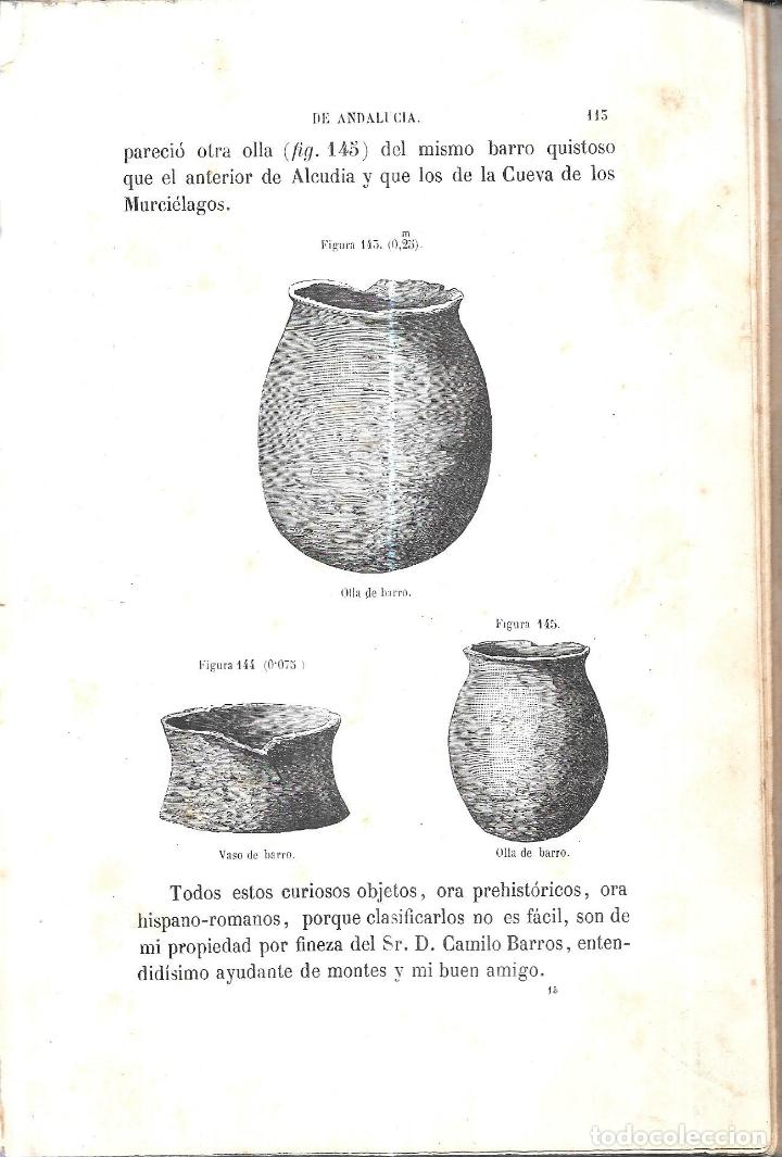 Libros antiguos: ANTIGÚEDADES PREHISTORICAS DE ANDALUCIA. D. MANUEL DE GÓNGORA Y MARTINEZ. 1868. - Foto 3 - 117796631
