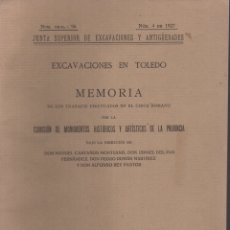 Libros antiguos: EXCAVACIONES EN TOLEDO (CIRCO ROMANO) 1928. Lote 119244530