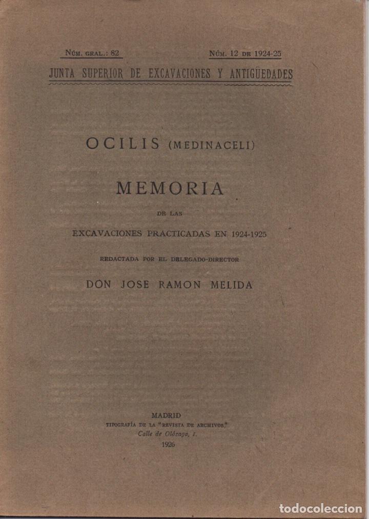 OCILIS (MEDINACELI) (Libros Antiguos, Raros y Curiosos - Ciencias, Manuales y Oficios - Arqueología)