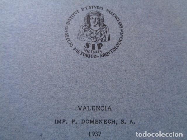 Libros antiguos: SIP. INVESTIGACIÓN PREHISTORICA. 1937. GUERRA CIVIL, POBLADO IBERICO DE SAN MIQUEL. LLIRIA, VALENCIA - Foto 3 - 121946647