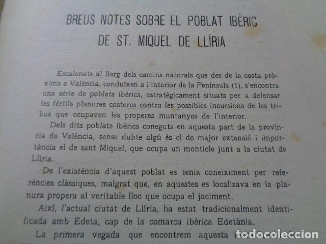 Libros antiguos: SIP. INVESTIGACIÓN PREHISTORICA. 1937. GUERRA CIVIL, POBLADO IBERICO DE SAN MIQUEL. LLIRIA, VALENCIA - Foto 5 - 121946647