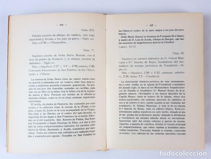 Libros antiguos: CATÁLOGO DEL MUSEO ARQUEOLÓGICO PROVINCIAL DE BURGOS. M.M.B. MADRID. 1935. - Foto 6 - 122351803