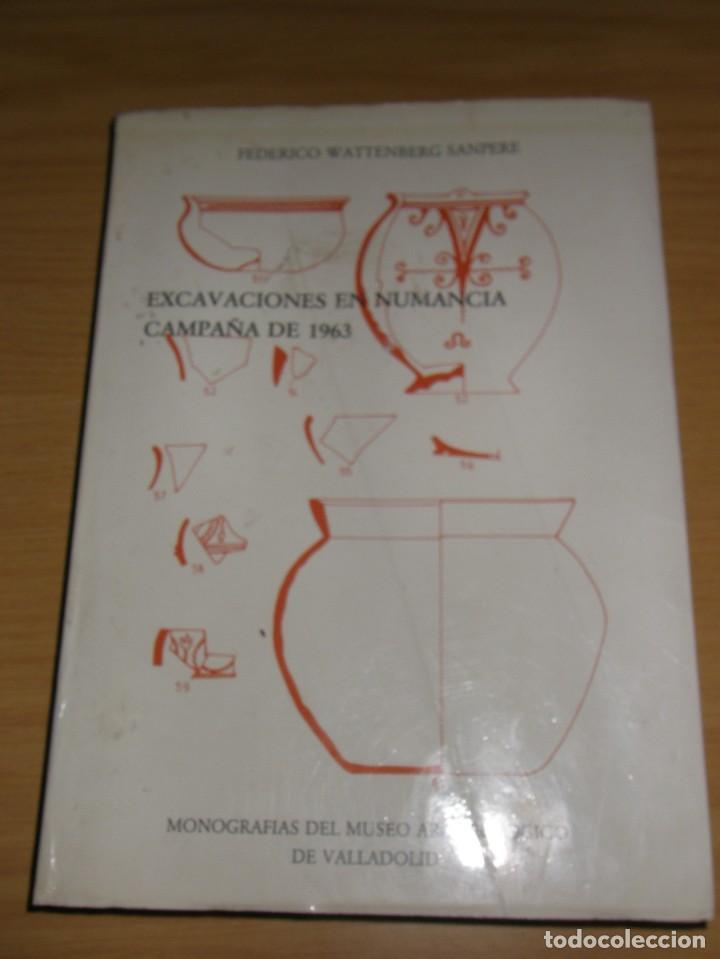 EXCAVACIONES EN NUMANCIA, CAMPAÑA 1963, DE FEDERICO WATTENBERG, EDIT, MUSEO ARQUEOLOG, DE VALLADOLID (Libros Antiguos, Raros y Curiosos - Ciencias, Manuales y Oficios - Arqueología)