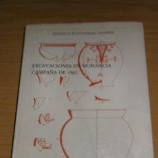 Libros antiguos: EXCAVACIONES EN NUMANCIA, CAMPAÑA 1963, DE FEDERICO WATTENBERG, EDIT, MUSEO ARQUEOLOG, DE VALLADOLID. Lote 124227639