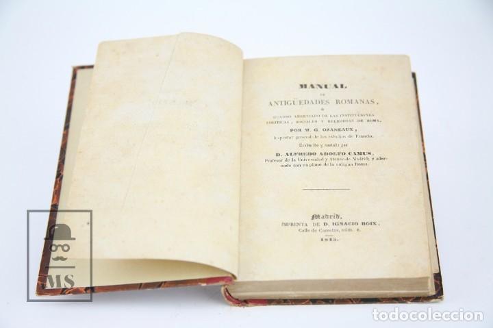 Libros antiguos: Libro- Manual De Antigüedades Romanas / M.G. Ozaneaux, Alfredo Adolfo Camus - Ed Ignacio Boix, 1845 - Foto 5 - 124606303