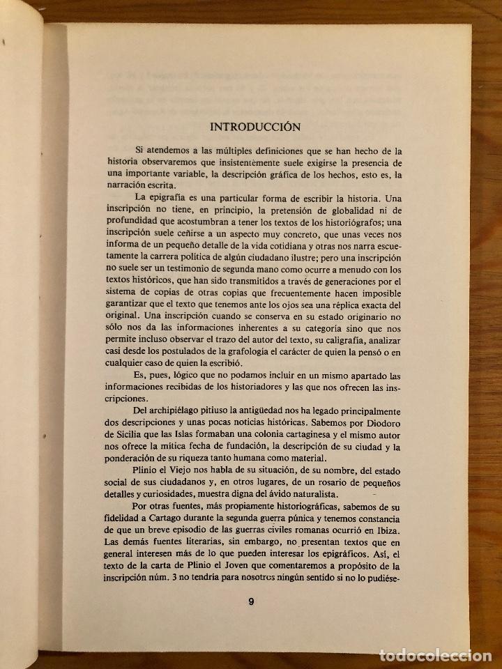 Libros antiguos: ARQUELOGIA BALEAR--Epigrafía Romana de Ebusus(31€) - Foto 3 - 127558527