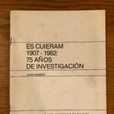 Libros antiguos: ES GUIERAM-75 AÑOS DE INVESTIGACIÓN(21€). Lote 127964535