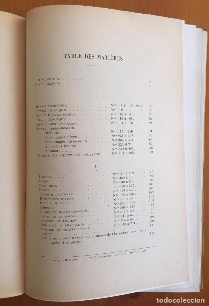 Libros antiguos: ARQUEOLOGIA- CATALOGUE DES FIGURINES ET OBJETS DE BRONZE- MUSEO ARQUEOLOGICO MADRID- 1.927 - Foto 6 - 129637855