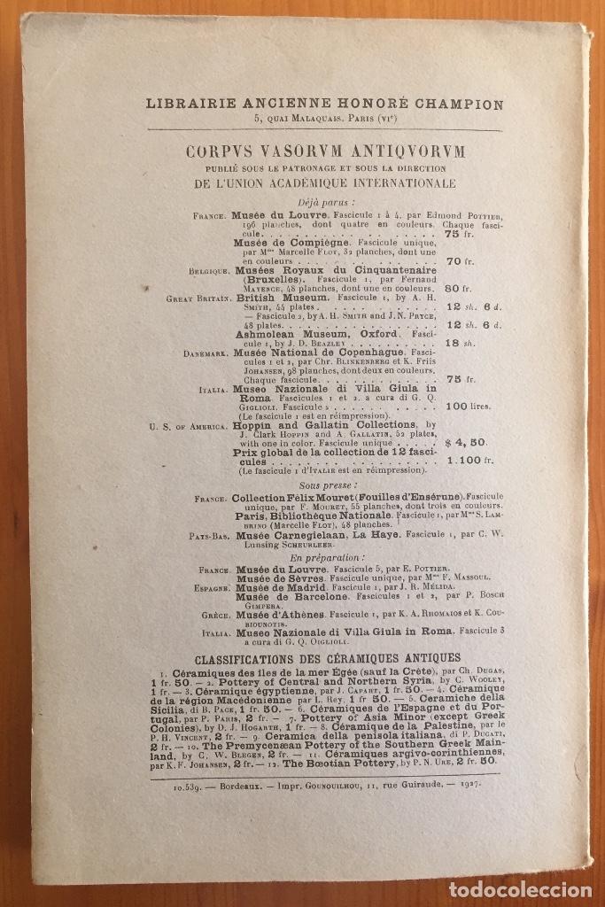 Libros antiguos: ARQUEOLOGIA- CATALOGUE DES FIGURINES ET OBJETS DE BRONZE- MUSEO ARQUEOLOGICO MADRID- 1.927 - Foto 10 - 129637855