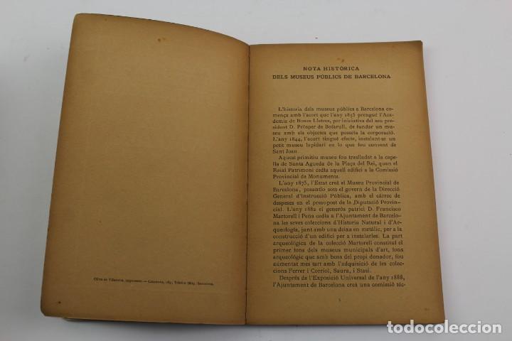 Libros antiguos: L-1674.MUSEUS D' ART I D' ARQUEOLOGIA DE BARCELONA, GUIA SUMARIA. ANY 1915. IMPRESSOR OLIVA-VILANOVA - Foto 4 - 131917802