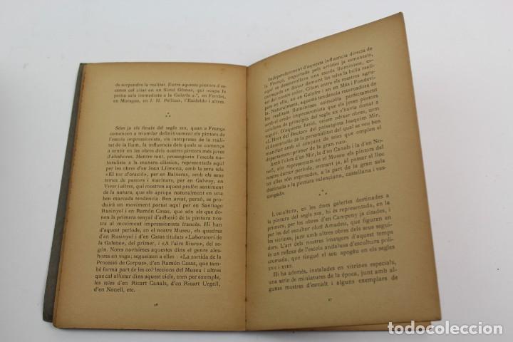 Libros antiguos: L-1674.MUSEUS D' ART I D' ARQUEOLOGIA DE BARCELONA, GUIA SUMARIA. ANY 1915. IMPRESSOR OLIVA-VILANOVA - Foto 5 - 131917802