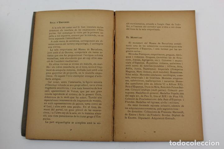 Libros antiguos: L-1674.MUSEUS D' ART I D' ARQUEOLOGIA DE BARCELONA, GUIA SUMARIA. ANY 1915. IMPRESSOR OLIVA-VILANOVA - Foto 6 - 131917802