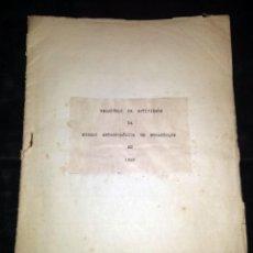 Libros antiguos: MISION ANTROPOLÓGICA DE MOCAMBIQUE EN 1950 - RELATÓRIO DA ACTIVIDADE - DIBUJOS A ESCALA. Lote 133155170