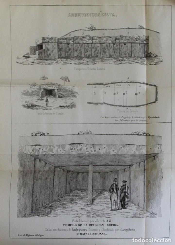 Libros antiguos: MEMORIA SOBRE EL TEMPLO DRUIDA HALLADO EN LAS CERCANIAS DE LA CIUDAD DE ANTEQUERA, provincia de... - Foto 2 - 123219584