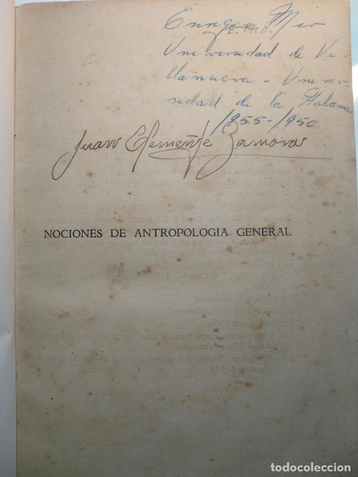 Libros antiguos: CURSO DE ANTROPOLOGÍA JURÍDICA - NOCIONES DE ANTROPOLOGÍA GENERAL - JULIO MORALES COELLO - 1946 - Foto 3 - 137894322