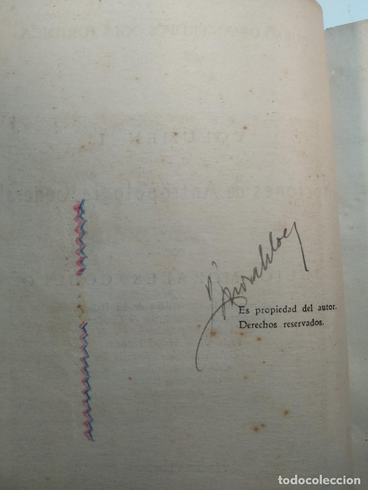 Libros antiguos: CURSO DE ANTROPOLOGÍA JURÍDICA - NOCIONES DE ANTROPOLOGÍA GENERAL - JULIO MORALES COELLO - 1946 - Foto 5 - 137894322