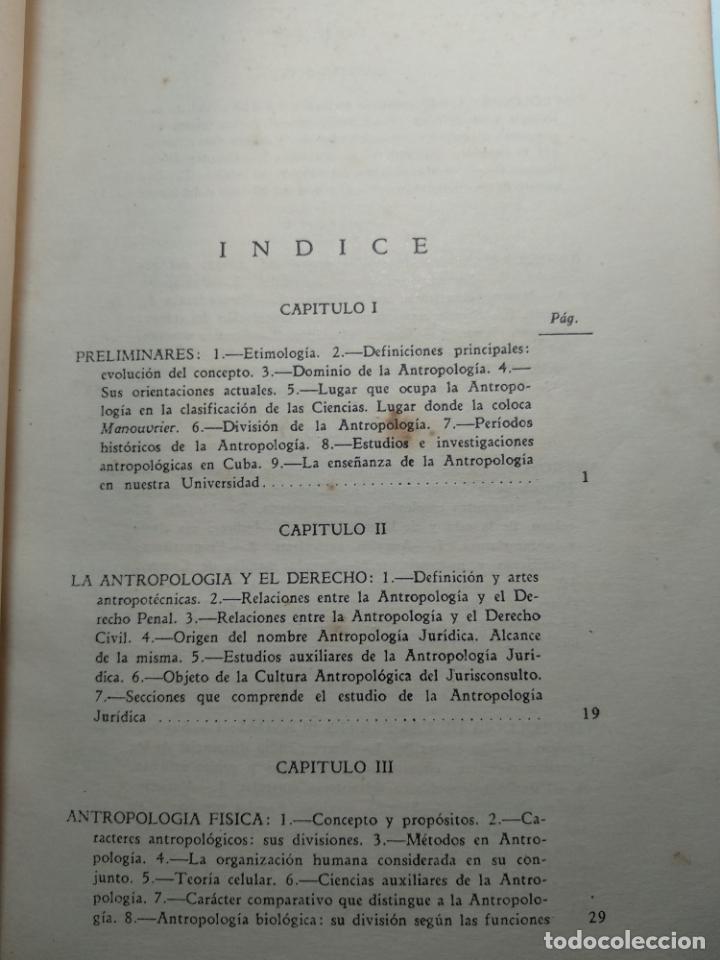 Libros antiguos: CURSO DE ANTROPOLOGÍA JURÍDICA - NOCIONES DE ANTROPOLOGÍA GENERAL - JULIO MORALES COELLO - 1946 - Foto 8 - 137894322