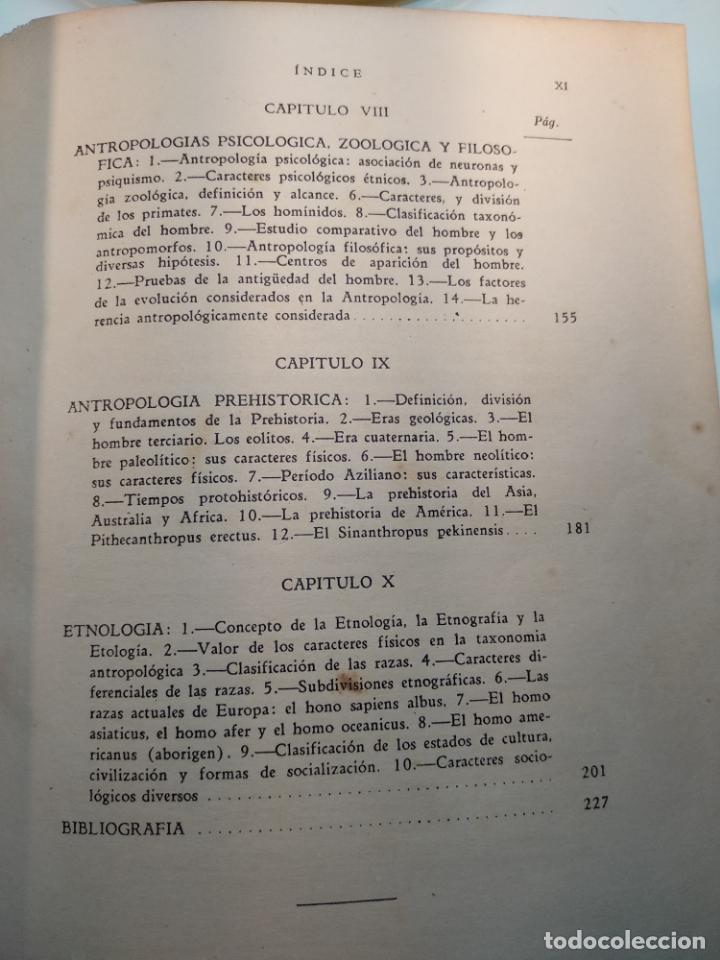 Libros antiguos: CURSO DE ANTROPOLOGÍA JURÍDICA - NOCIONES DE ANTROPOLOGÍA GENERAL - JULIO MORALES COELLO - 1946 - Foto 10 - 137894322