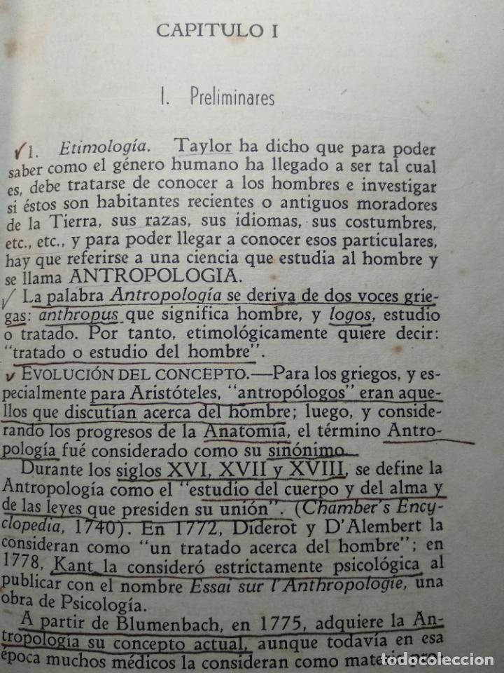 Libros antiguos: CURSO DE ANTROPOLOGÍA JURÍDICA - NOCIONES DE ANTROPOLOGÍA GENERAL - JULIO MORALES COELLO - 1946 - Foto 11 - 137894322