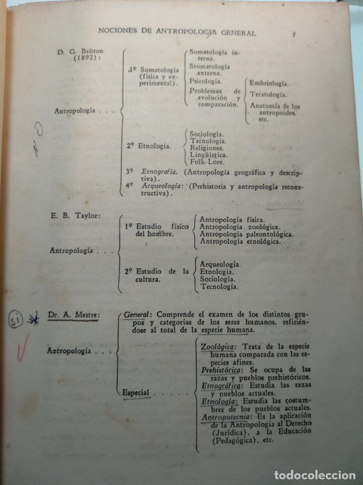 Libros antiguos: CURSO DE ANTROPOLOGÍA JURÍDICA - NOCIONES DE ANTROPOLOGÍA GENERAL - JULIO MORALES COELLO - 1946 - Foto 12 - 137894322