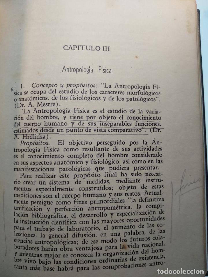 Libros antiguos: CURSO DE ANTROPOLOGÍA JURÍDICA - NOCIONES DE ANTROPOLOGÍA GENERAL - JULIO MORALES COELLO - 1946 - Foto 14 - 137894322