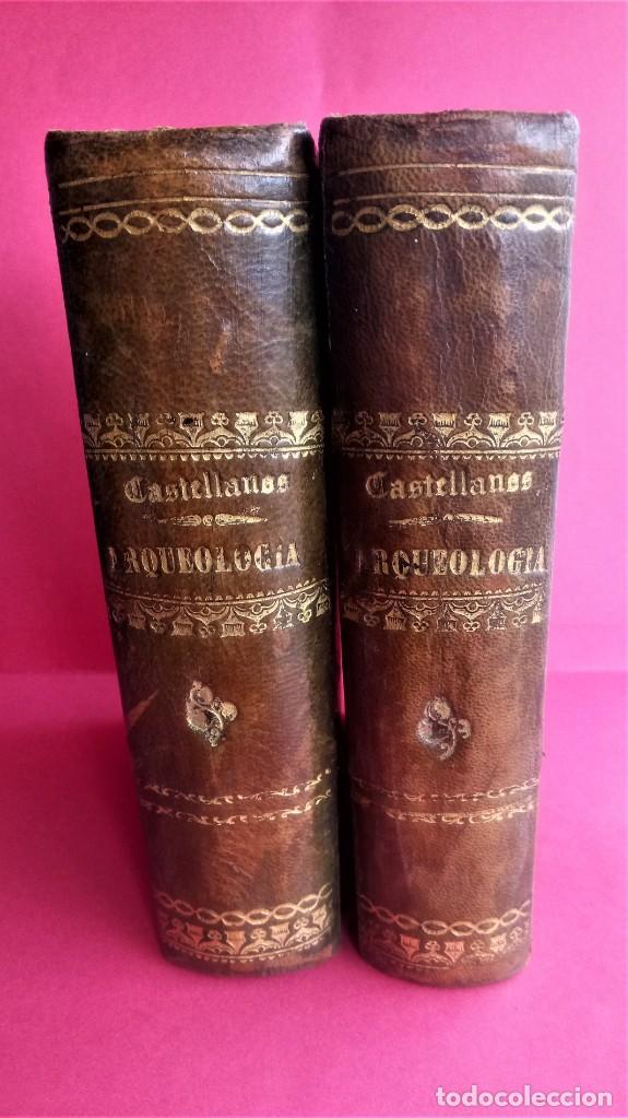 LIBRO,II TOMOS OBRA COMPLETA,COMPENDIO ELEMENTAL DE ARQUEOLOGIA,SIGLO XIX,AÑO 1844,POR ANTICUARIO (Libros Antiguos, Raros y Curiosos - Ciencias, Manuales y Oficios - Arqueología)