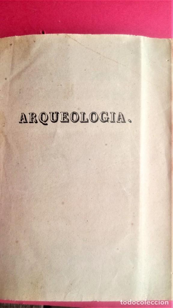 Libros antiguos: LIBRO,II TOMOS OBRA COMPLETA,COMPENDIO ELEMENTAL DE ARQUEOLOGIA,SIGLO XIX,AÑO 1844,POR ANTICUARIO - Foto 8 - 138938002