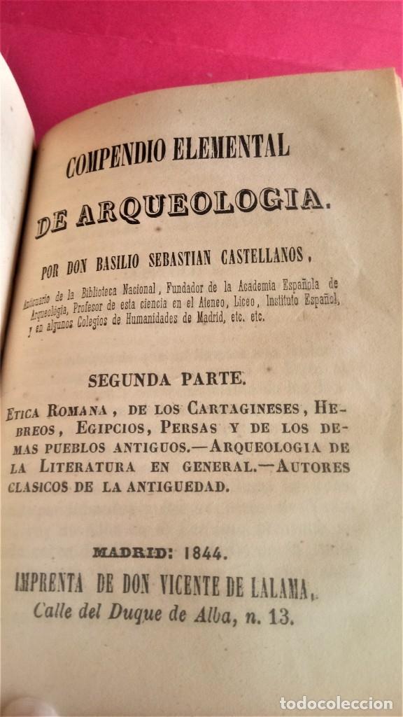 Libros antiguos: LIBRO,II TOMOS OBRA COMPLETA,COMPENDIO ELEMENTAL DE ARQUEOLOGIA,SIGLO XIX,AÑO 1844,POR ANTICUARIO - Foto 9 - 138938002