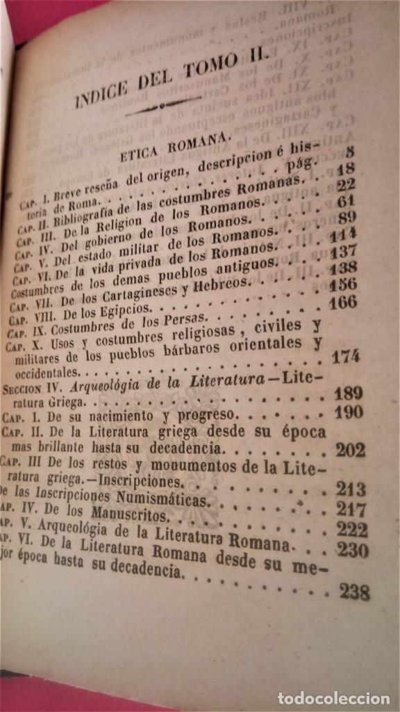 Libros antiguos: LIBRO,II TOMOS OBRA COMPLETA,COMPENDIO ELEMENTAL DE ARQUEOLOGIA,SIGLO XIX,AÑO 1844,POR ANTICUARIO - Foto 10 - 138938002