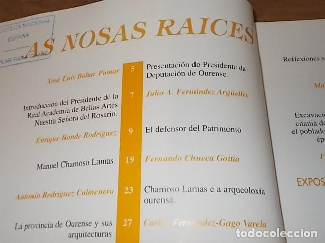 Libros antiguos: AS NOSAS RAICES. OURENSE NO OBXECTIV DE MANUEL CHAMOSO LAMAS . DIPUTACIÓN OURENSE . 1997. UNA JOYA - Foto 5 - 140476702