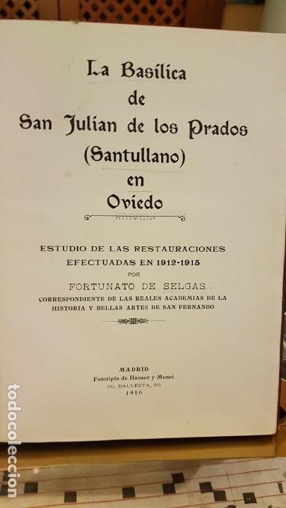 Libros antiguos: La Basílica de San Julián de los Prados (Santullano) en Oviedo - Foto 2 - 144913130