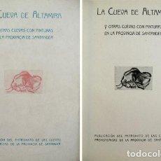 Libros antiguos: LA CUEVA DE ALTAMIRA Y OTRAS CUEVAS CON PINTURAS EN LA PROVINCIA DE SANTANDER. (1945).. Lote 146990538