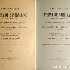 Libros antiguos: EXPL. DE LA CAVERNA DE SANTIMAMIÑE [BASONDO: CORTÉZUBI]. [Y:] EXPL. EN LA CAVERNA DE LUMENTXA. 1935. Lote 146995186