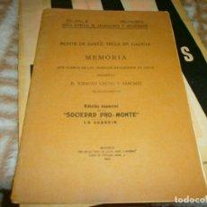 Libros antiguos: MONTE DE SANTA TECLA EN GALICIA JUNTA SUPERIOR EXCAVACIONES - 1924 IGNACIO CALVO Y SANCHEZ. Lote 147002810
