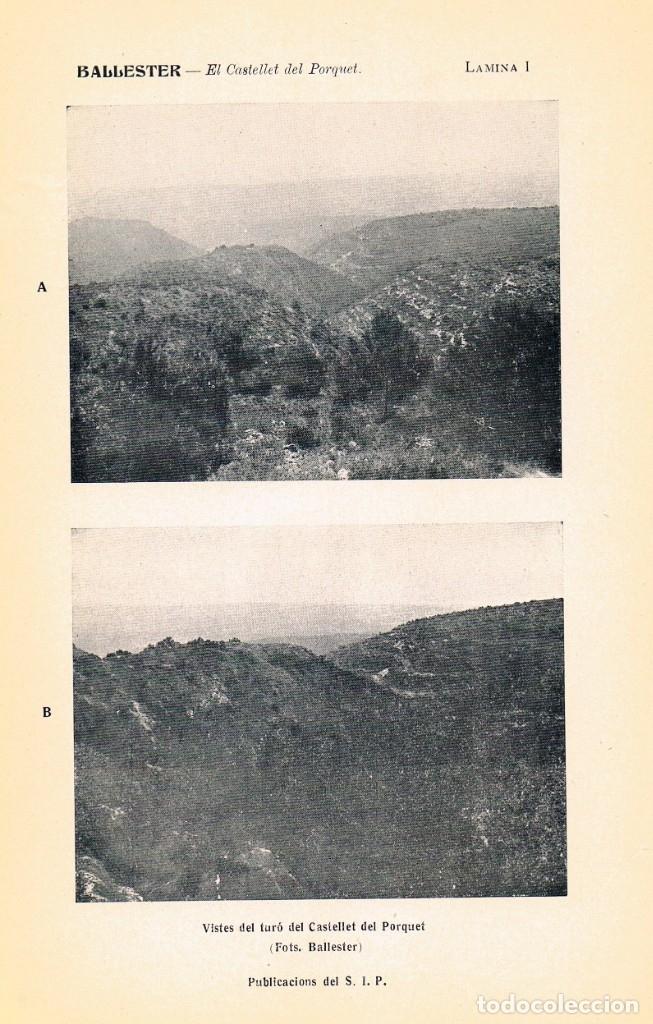 Libros antiguos: EL CASTELLET DEL PORQUET. AÑO 1937. BALLESTER TORMO - Foto 2 - 147612246