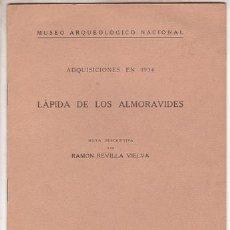 Libros antiguos: REVILLA VIELVA, RAMÓN: LAPIDA DE LOS ALMORAVIDES. Lote 148229446