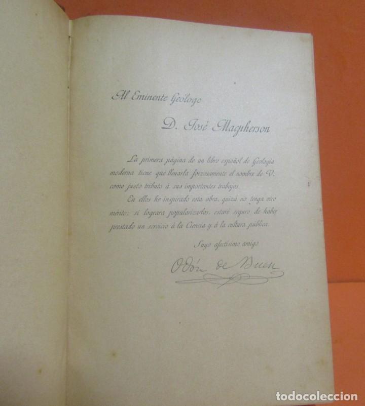 Libros antiguos: GEOLOGIA ODON DE BUEN CURSO COMPLETO DE HISTORIA NATURAL AÑO 1890 - Foto 3 - 148702602