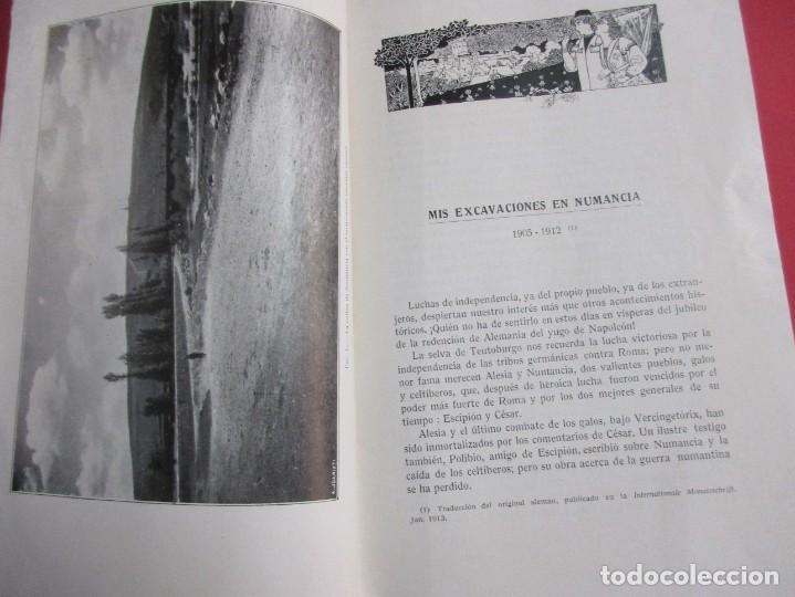 Libros antiguos: MIS EXCAVACIONES EN NUMANCIA, 1905-1912. ADOLFO SCHULTEN. ED. ESTUDIO, 1914. 33 PÁGINAS. 24,5 X 16 C - Foto 3 - 152396362