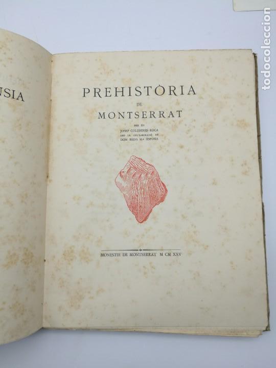 Libros antiguos: Prehistòria de Montserrat 1925 - Foto 2 - 154553066