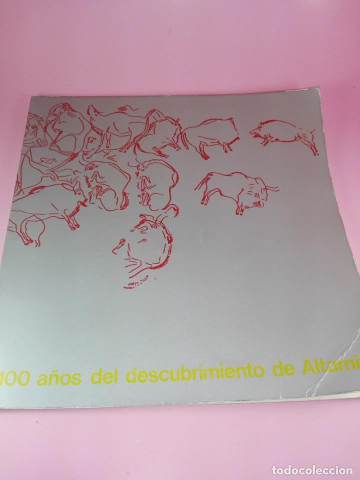 Libros antiguos: CATÁLOGO-100 AÑOS DEL DESCUBRIMIENTO DE ALTAMIRA-1979-VER FOTOS - Foto 2 - 157537130