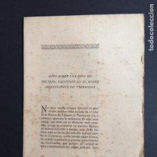 Libros antiguos: PÍO BELTRÁN. NOTA SOBRE UNA PESA DE SEXTANS, TARRAGONA, 1923.. Lote 159621654