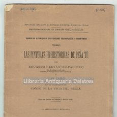 Libros antiguos: [ARQUEOLOGIA. ASTURIAS. MADRID, 1914] LAS PINTURAS PREHISTÓRICAS DE PEÑA TÚ. . Lote 167099492