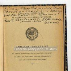 Libros antiguos: [DEDICADO. CERÁMICA Y ARQUEOLOGÍA EN IRAN. TEHERAN, 1931] REMARQUES EXPEDITIONNAIRES.... Lote 168159820