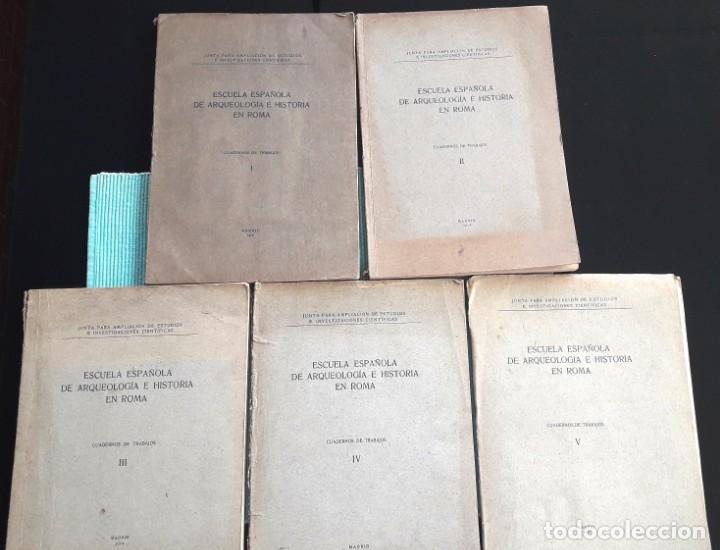 ESCUELA ESPAÑOLA DE ARQUEOLOGÍA E HISTORIA EN ROMA. 5 TOMOS (J.A.E.I.C. 1912-24) SIN USAR (Libros Antiguos, Raros y Curiosos - Ciencias, Manuales y Oficios - Arqueología)